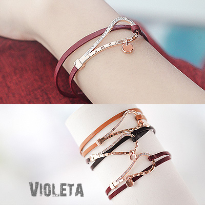 1043839 - <BC444-HB19> Violeta leather bracelet