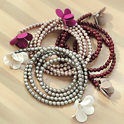 1043840 - <NE251-BC20> Pearl Flower necklace