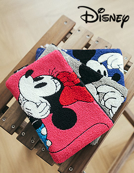 1043850 - <FI084-P> [Disney genuine] Mickey hair embroidery pouch & clutch bag