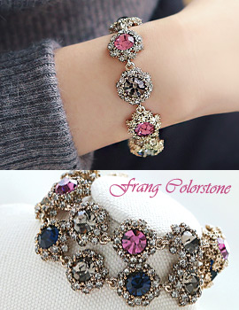 1043856 - <BC448-ID04> frang Color stone bracelet