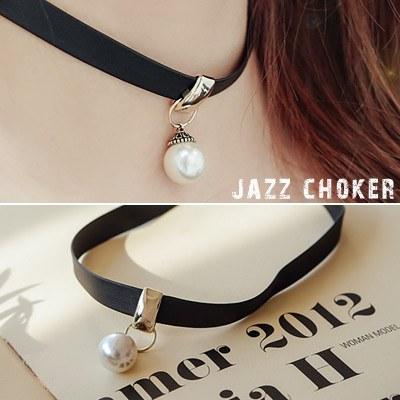 1043876 - <NE257-BB17> Jazz choker necklace