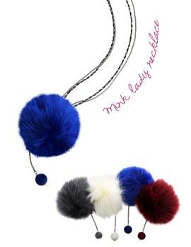 1043889 - <NE260-BA00> mink lady necklace