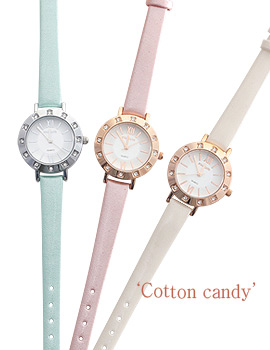 1043892 - <WC093-BE10> Cotton candy watches