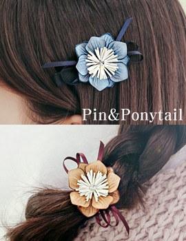 1043896 - <HA415-H2-H7> Chrysanthemum flower hairpin & ponytail