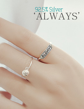 1043900 - <RI488-BE07> [Silver] Always ring