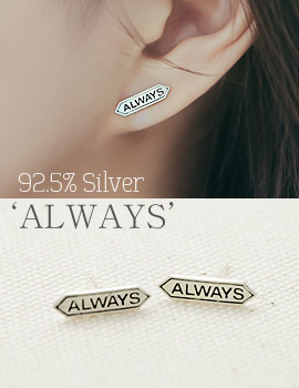 1043903 - <ER858-BE07> [Silver] Always earrings