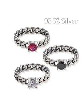 1043905 - <RI489-BD08> [Silver] frank twist ring