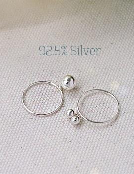 1043906 - <RI490-BD08> [Silver] Lily ring
