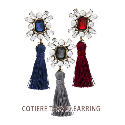 1043907 - <ER860-CG05> cotiere tassel earrings