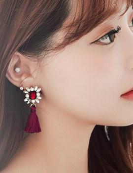 1043907 - <ER860-CG05> cotiere tassel earrings