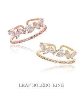 1043918 - <RI491-JD21> Leaf Bolero ring