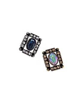1043945 - <ER872-DF29> [Silver Post] Elgar square earrings