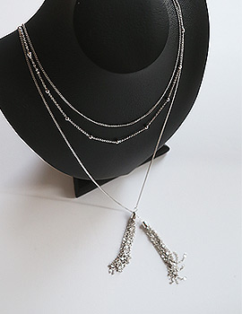 1043966 - <NE266-S> [Out of stock] metal tassel long necklace