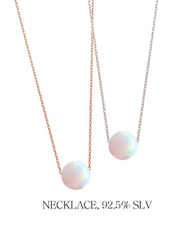 1043968 - <NE265-BA18> [Silver] opal shadow necklace