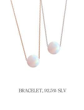 1043969 - <BC458_BA18> [Silver] opal shadow bracelet
