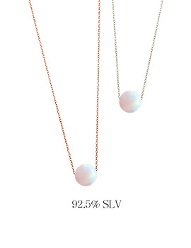 1043970 - <JS180_BA18> [necklace + bracelet] [Silver] opal shadow set