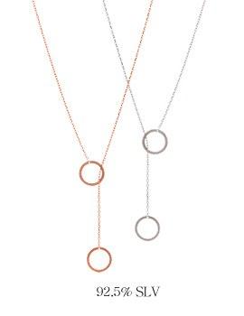 1043980 - <NE269_IH09> [Silver] Mini double circle necklace