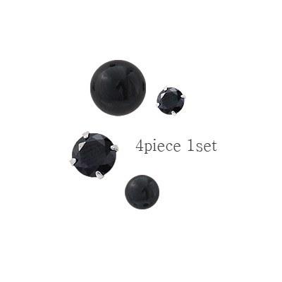 1043990 - <ER882_GJ20> [4Piece 1set] [Silver] chic earrings