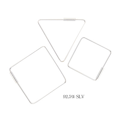 1043997 - <ER879_GJ17> Kang Mo Yeon [Silver] About time earrings