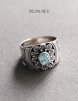 1043998 - <RI500_AD18> [Silver] Blue Topaz gemstone ring