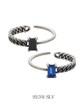 1044029 - <RI508_S> [Same-day shipping] [Silver] modern chain ring