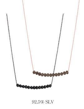 1044033 - <NE277_BE07> [Silver] twosome necklace