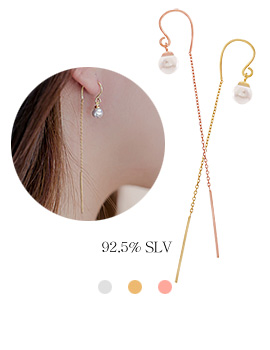 1044044 - <ER900_B> [Silver] Wear pearl earrings