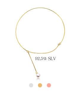1044046 - <BC468_B> [Silver] romance pearl bracelet