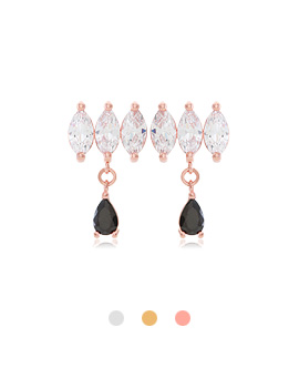1044053 - <ER906_GE26> [Silver Post] dear mood cubic earrings