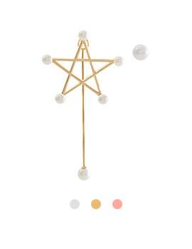 1044058 - <ER905_GE28> [Silver Post] Stardust Unbalanced Earrings