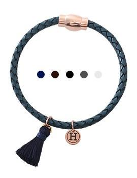 1044074 - <BC474_HC05> tassel twist leather bracelet
