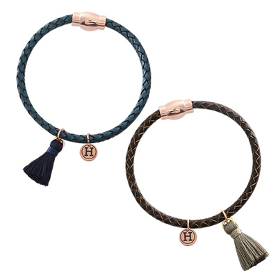 1044074 - <BC474_HC05> tassel twist leather bracelet