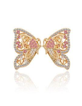 1044077 - <ER911_DB01> butterfly two-way earrings