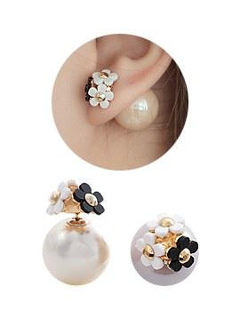 1044079 - <ER913_CH12> sweet Flower two-way earrings
