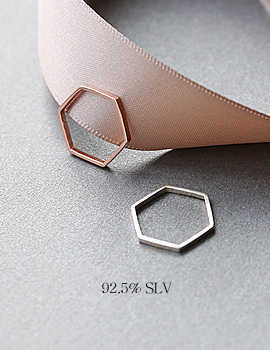 1044088 - <RI736_AC01> [Silver] modern slim Hexagon ring