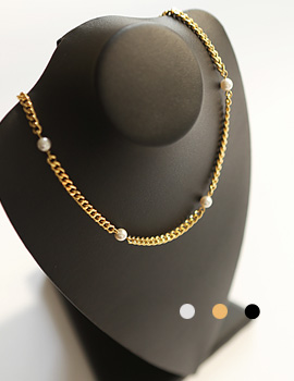 1044094 - <NE279_BB11> [Same-Day Shipping] with pearls choker necklace