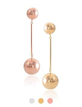 1044095 - <ER917_CG19> [Silver Post] mobile ball earrings