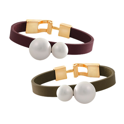 1044097 - <BC477_HC16> flounder pearl bracelet