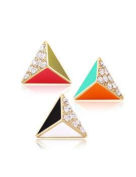 1044114 - <ER925_GG27> triangle darling earrings