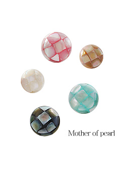 1044150 - <ER935_CC22> Tiny Mother-of-Pearl ball earrings