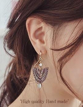 1044179 - <ER946_DF02> [handmade] [Silver Post] antique dressy earrings