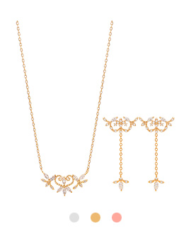 1044180 - <JS189_IE10> [necklace + earrings] lovable day set