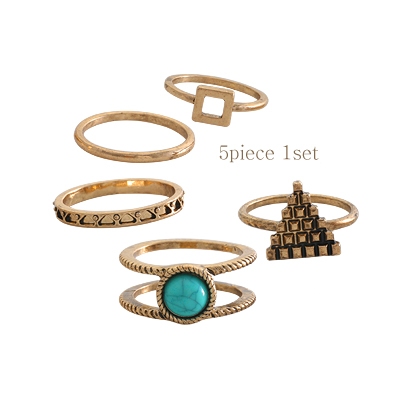 1044224 - <RI541_S> [Immediate out of stock] [5Piece 1set] Arko vintage ring