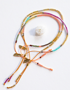 1044230 - <BC490_HE10> churros beads bracelet