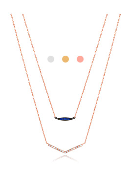 1044231 - <NE291_S> [Immediate out of stock] Ladies two-line necklace