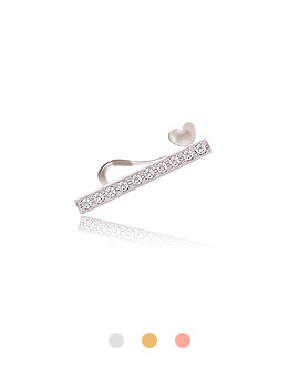 1044235 - <EC122_CE11> [Sold individually] heart point stick ear cuffs