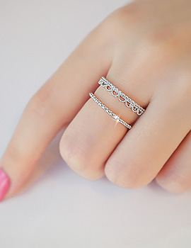 1044239 - <RI543_S> [Sold out] double line lace ring