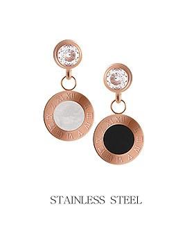 1044245 - <ER962_DE21> [Stainless steel] seine round earrings