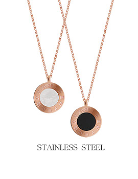 1044246 - <NE293_IF05> [Stainless steel] seine round necklace
