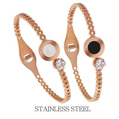 1044247 - <BC492_IF05> [Stainless steel] seine round bracelet
